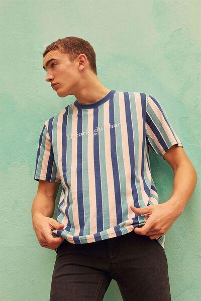 Embroidered Stripe T Shirt, MOOD INDIGO/PARIS CHAOS