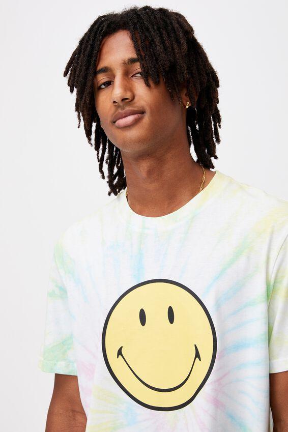 Elevated Regular License T Shirt, LCN SMI TIE DYE/SMILEY