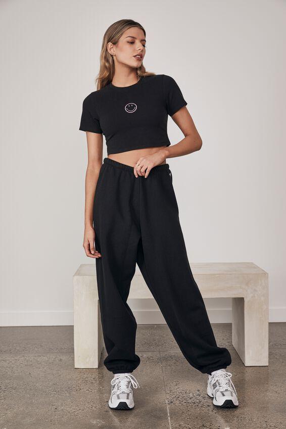 Smiley Lcn Graphic Baby T Shirt, LCN SMI BLACK/SMILEY