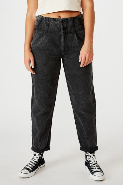 Buckle Slim  Slouch Jean, THRIFT BLACK