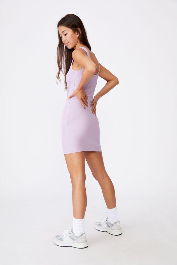 Zipper Front Dress, ORCHID BLOOM