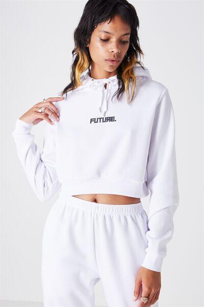 Core Crop Hoodie, WHITE_FUTURE