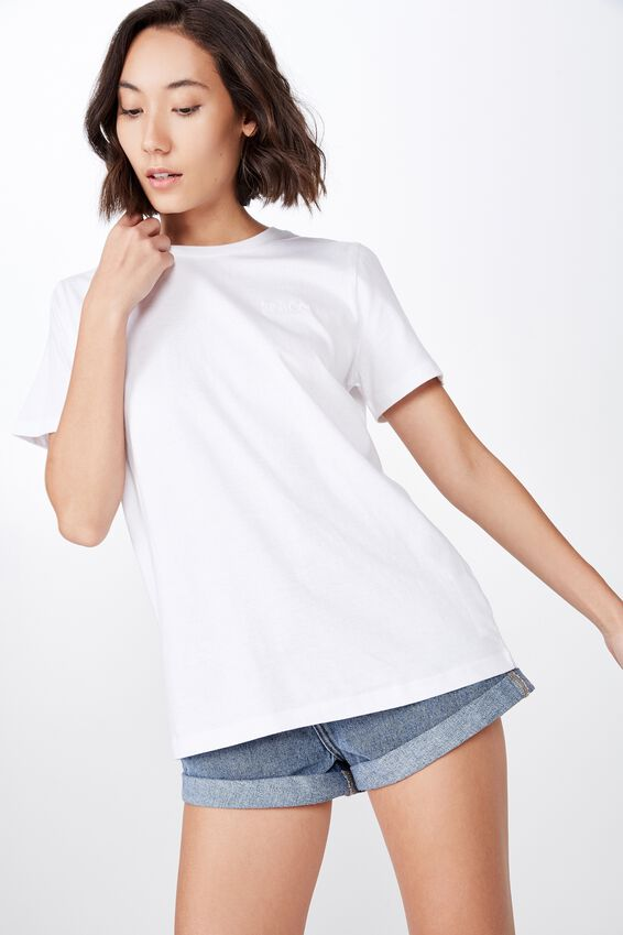 Relaxed Graphic T Shirt, WHITE/FCT CO