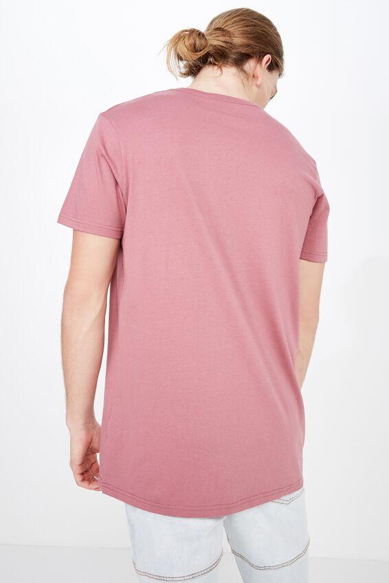 Longline T Shirt, BURGUNDY