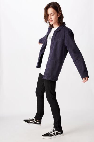 Skinny Leg Denim Jean, BLACK