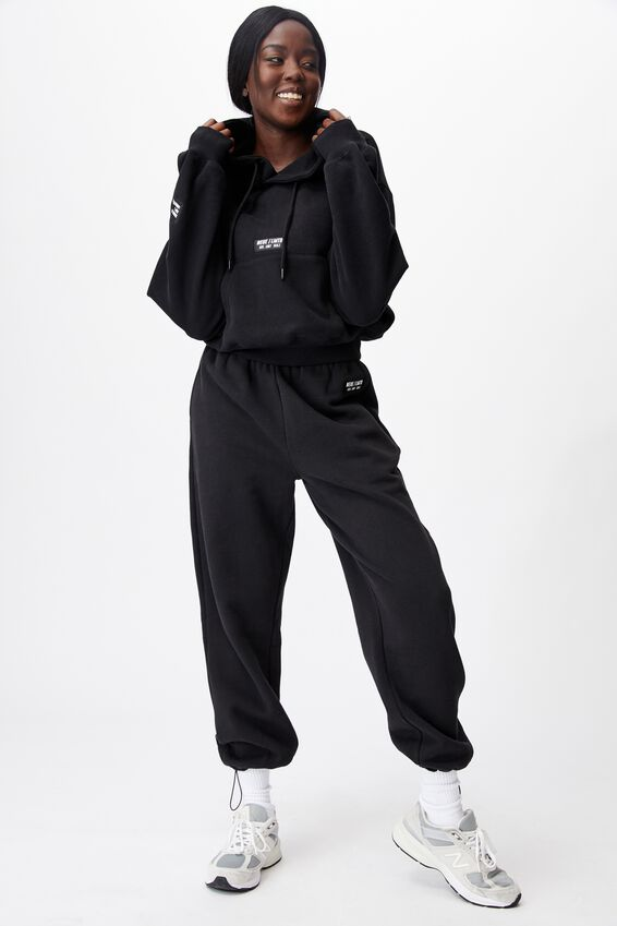 Athluxe Slouchy Cropped Hoodie, BLACK/NEUE LMTD