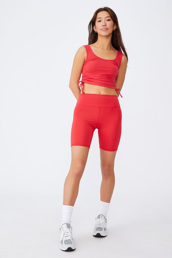 Ruched Side Seam Tank, POINSETTA