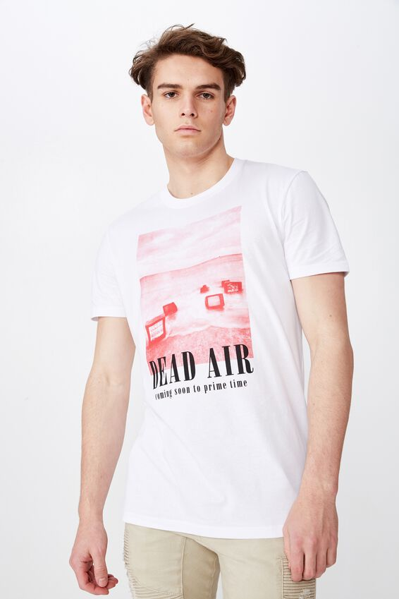 Slim Graphic T Shirt, WHITE/DEAD AIR
