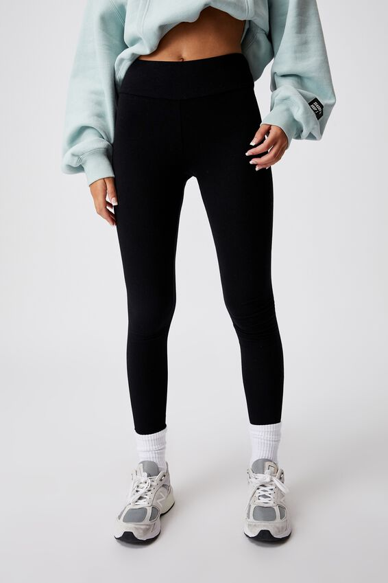 High Waisted Legging, BLACK