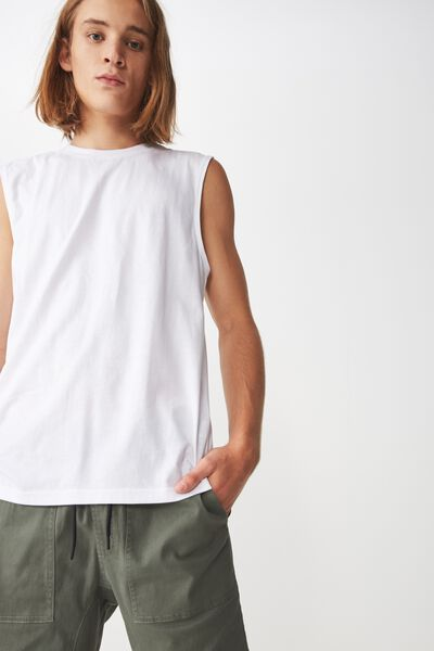 Sport Muscle T Shirt, WHITE