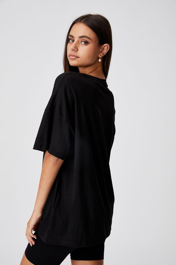 Super Relaxed Graphic Tee, BLACK/WORLD TOUR SCRIPT