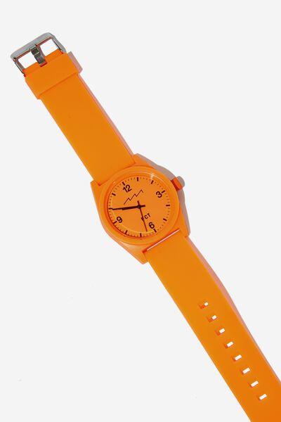 Silicone Watch, NEON ORANGE