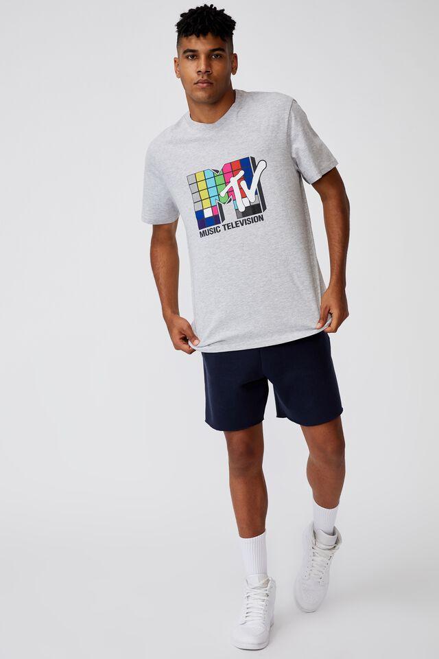 Regular Pop Culture T Shirt, LCN MTV GREY MARLE/MTV BLOCK