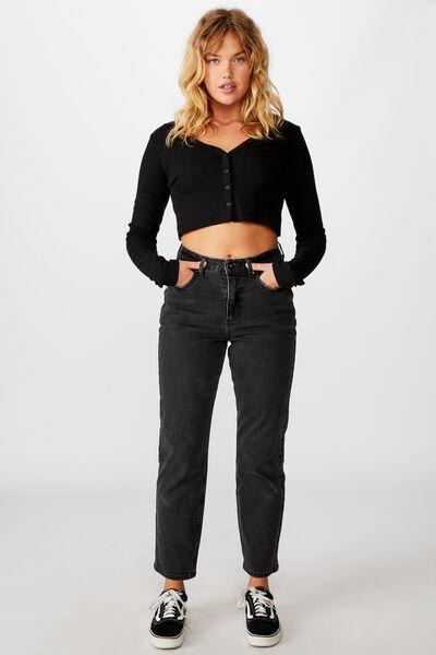 Straight Leg Jean, THRIFT BLACK