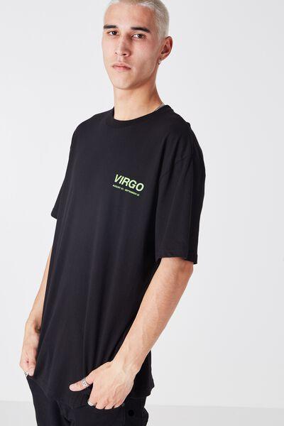 Virgo Horoscope T Shirt, BLACK/GREEN