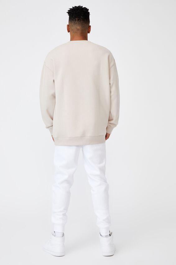 Basic Track Pant, WHITE