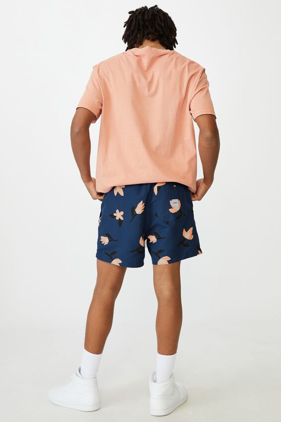 Resort Short, NAVY FLOWERBOWL