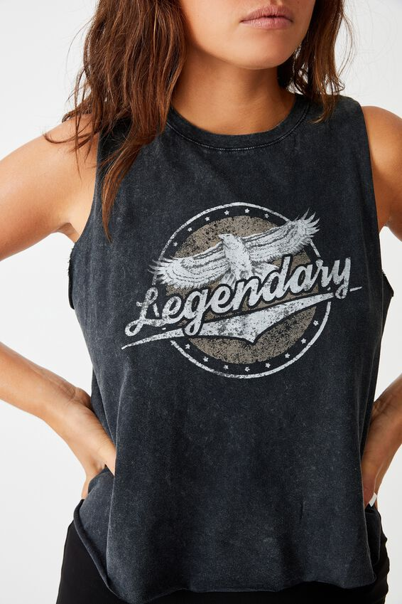 Graphic Tank, WASHED BLACK/LEGENDARY