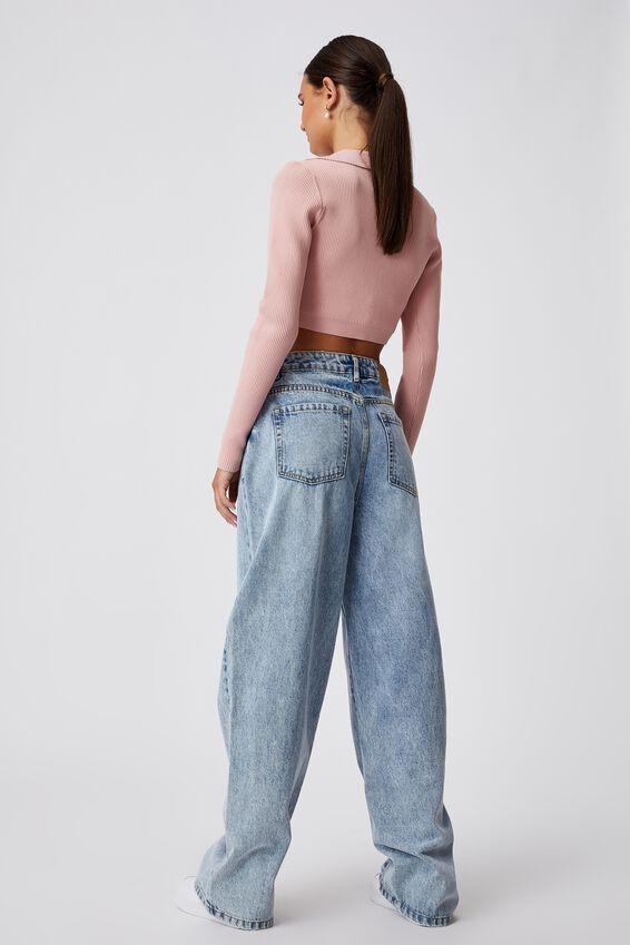 High Rise Baggy Jean, VINTAGE BLUE