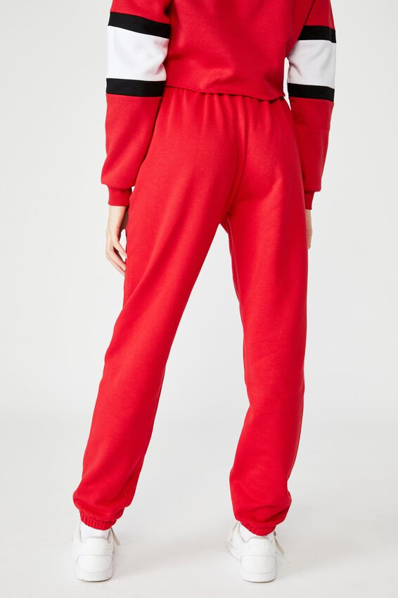 Graphic Trackpant, LYCHEE/BOSTON