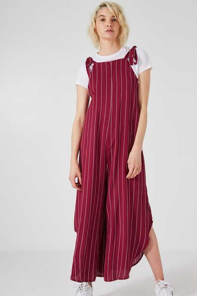 Audrey Jumpsuit, RED PINSTRIPE