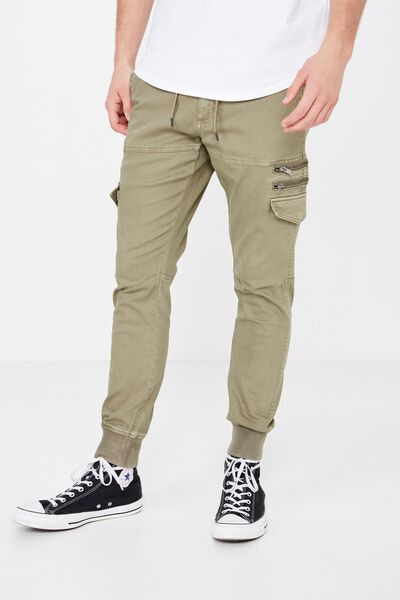 Zipt Utility Pant, LIGHT KHAKI