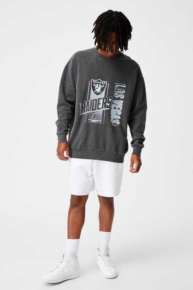 Oversized Nfl Crew, LCN NFL WASHED BLACK/LAS VEGAS RAIDERS