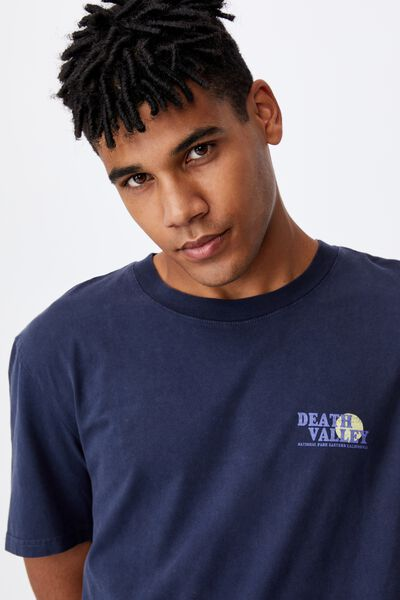 Regular Graphic T Shirt, WASHED INDIGO/DEATH VALLEY