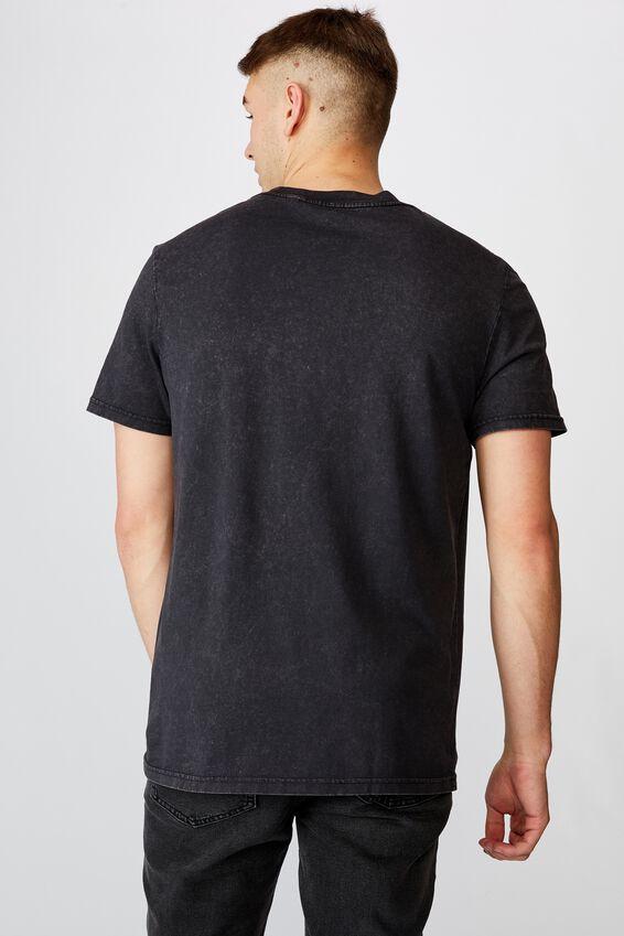 Regular Graphic T Shirt, WASHED BLACK HELLS CANYON
