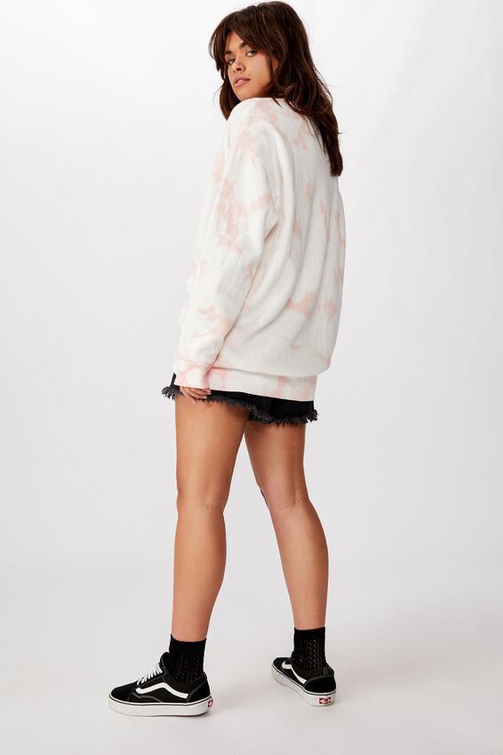 Oversized Tie Dye Sweater, LIGHT PINK