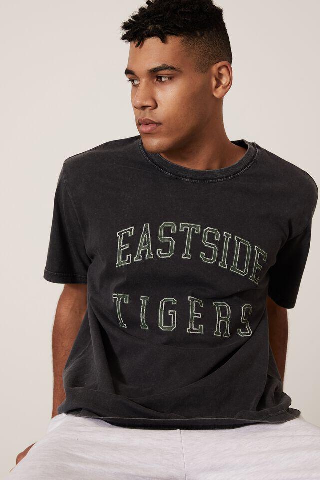 Regular Graphic T Shirt, WASHED BLACK/EASTSIDE TIGERS