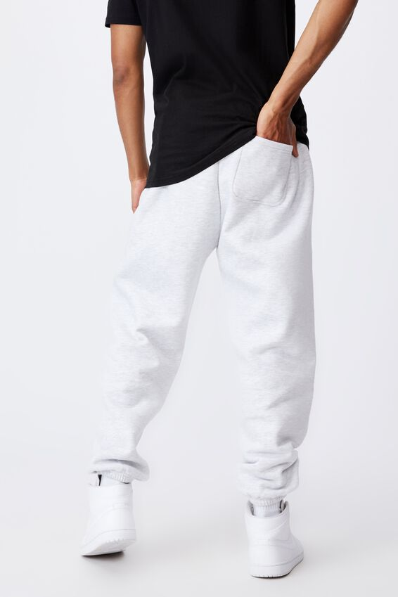 Relaxed Pop Culture Trackpant, LCN PAD SILVER MARLE/PARENTAL ADVISORY