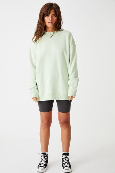 Oversized Crew Neck Sweater, BOK CHOY