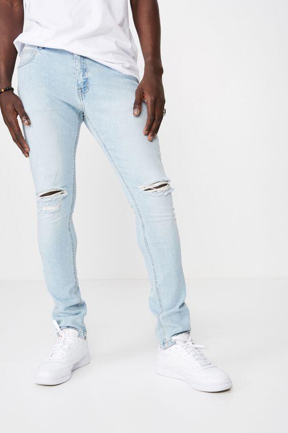 Skinny Leg Denim Jean, LIGHT BLUE