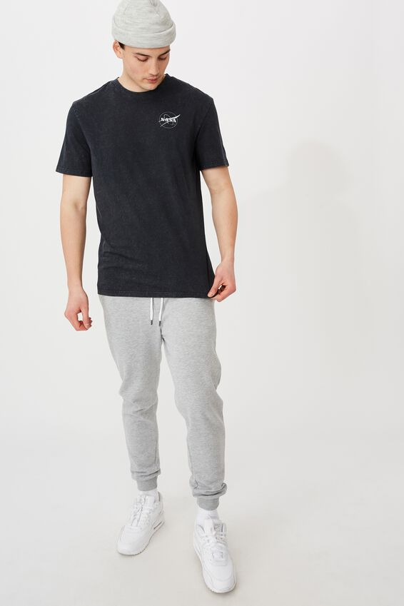 Regular License T Shirt, LCN NAS WASHED BLACK/NASA