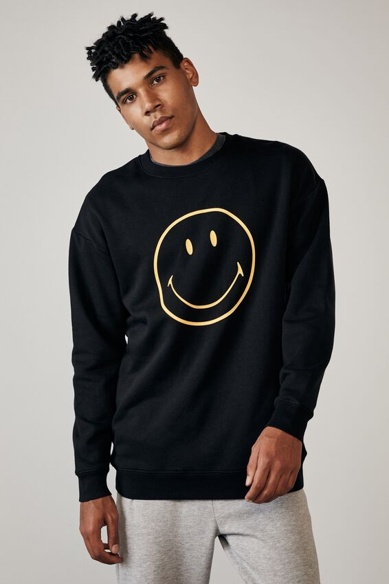 Smiley License Crew, LCN SMI BLACK/SMILEY