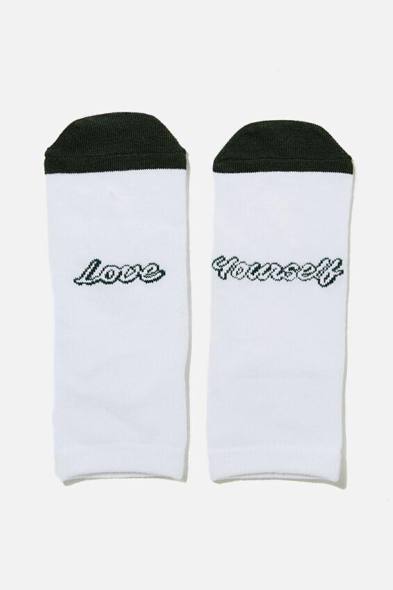 Anklet Original Sock, WHITE/LOVE YOURSELF