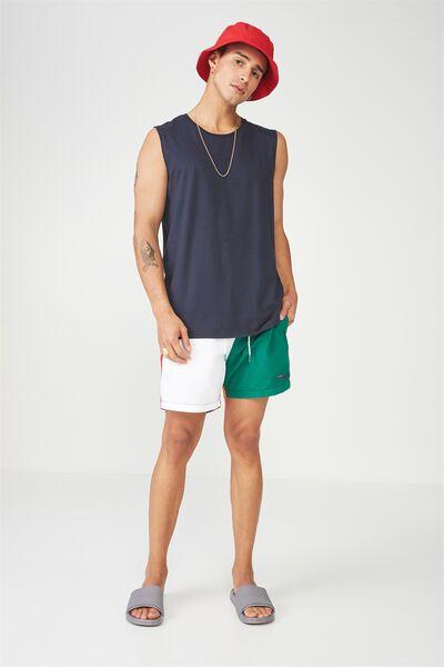 Fila Lcn Colour Block Swim Short, WHITE/GREEN/YELLOW/RED