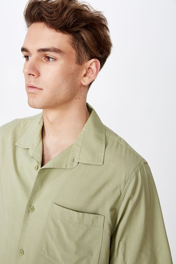 Resort Shirt, WASHED OLIVE