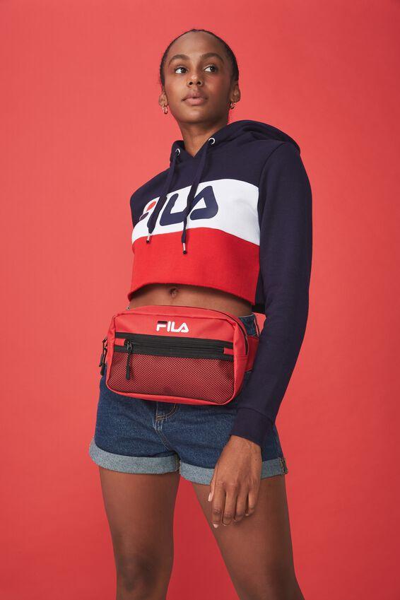 Fila Lcn Square Mesh Bag, RED