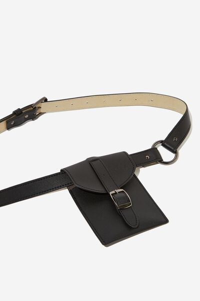 Buckle Belt Bag, BLACK
