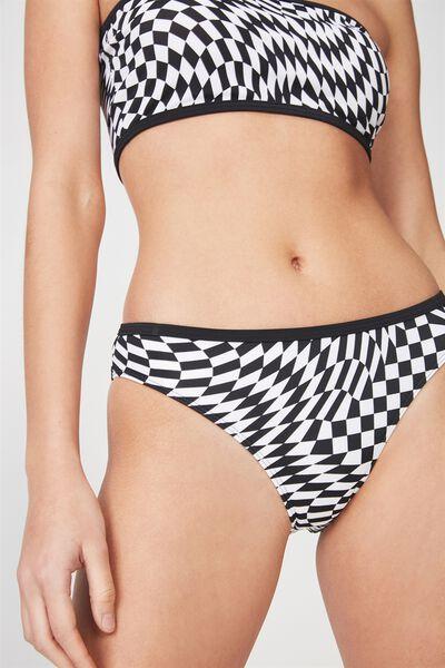 Essential Full Bikini Bottom, OPTICAL B/W CHECKERBOARD