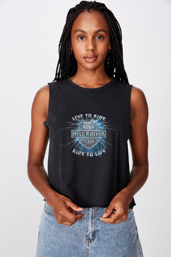 Graphic Tank, WASHED BLACK/HELLRAISER