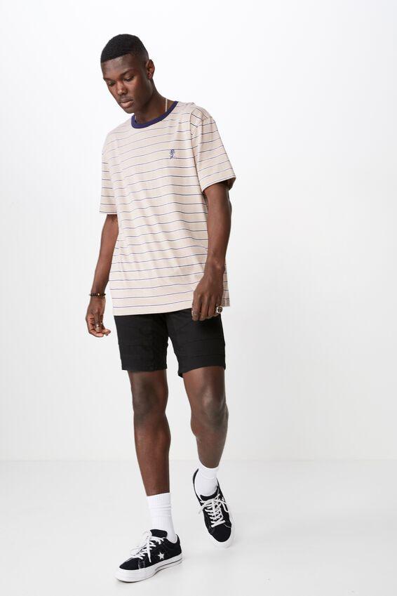 Classic Embroided Stripe T Shirt, SPHINX/MULTI STRIPE