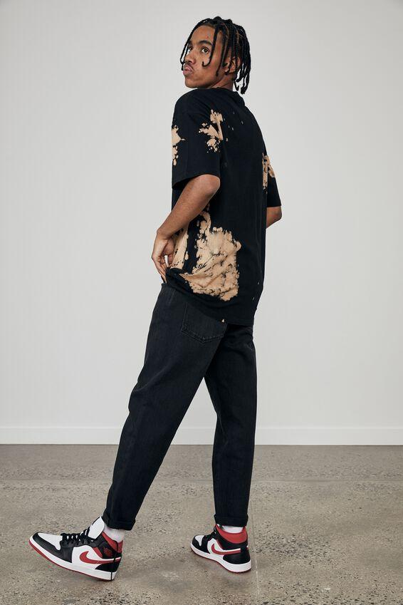 Oversized Music Merch T Shirt, LCN PRO BLEACH TIE DYE/METALLICA