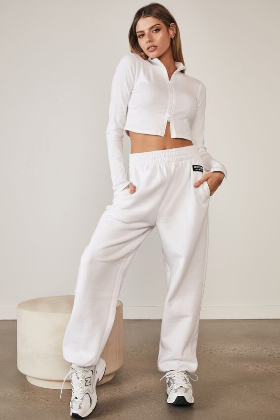 Double Zip Front Long Sleeve Cardi, WHITE