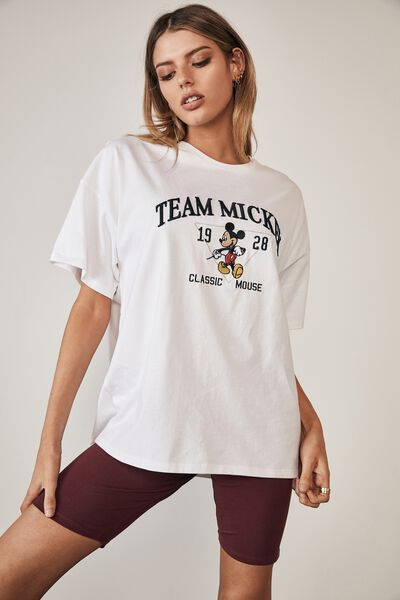 Lcn Disney Super Relaxed Graphic Tee, LCN DIS WHITE/TEAM MICKEY