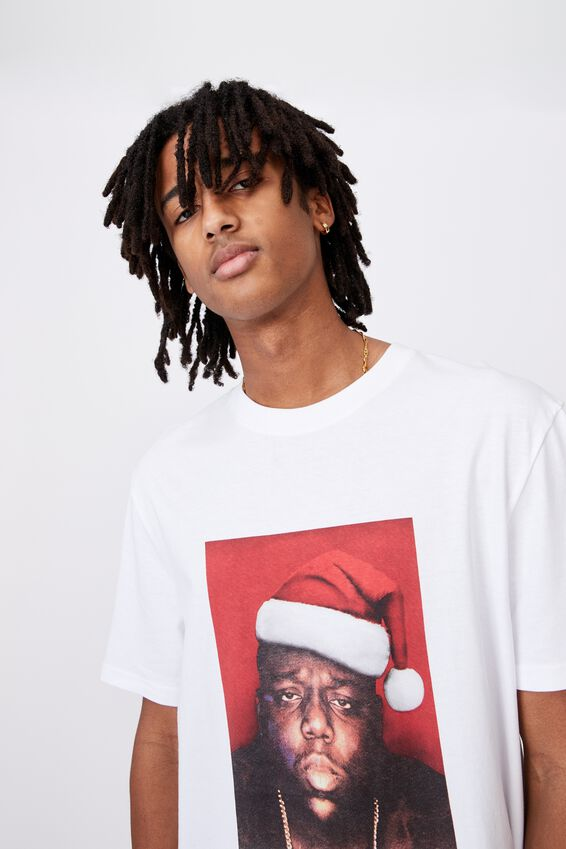 Regular License T Shirt, LCN MT WHITE/BIGGIE XMAS