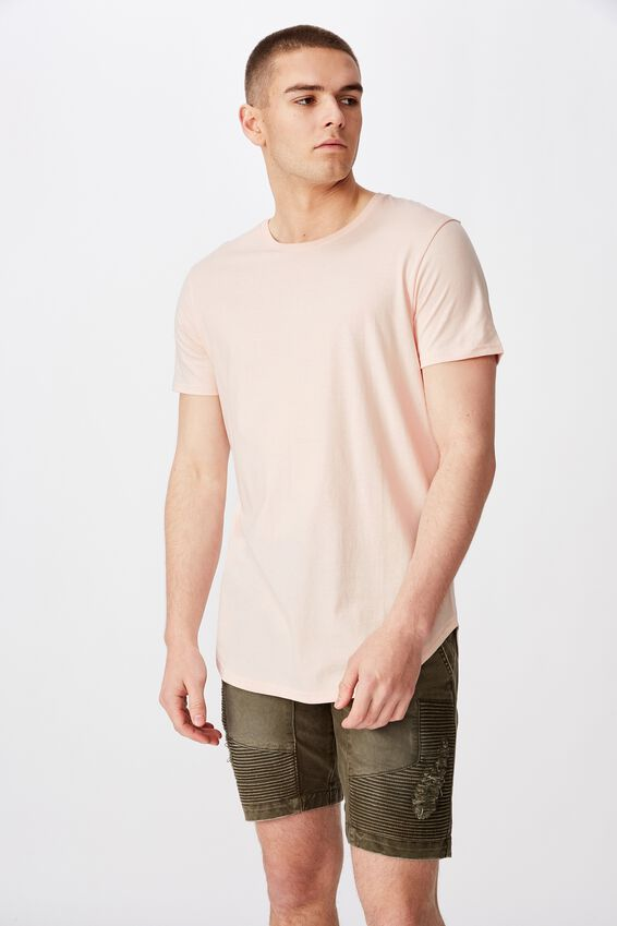 Curved T Shirt, MAUVE MORN