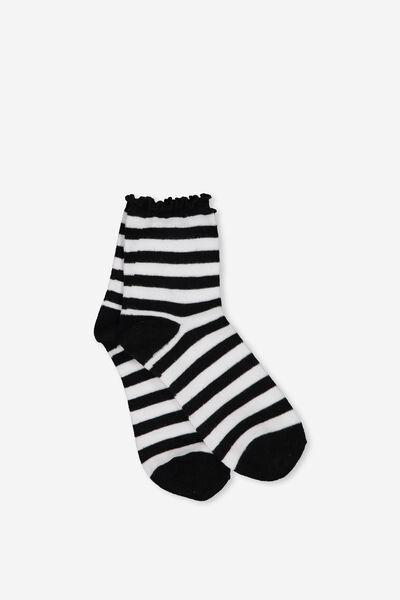 The Original Sock, BLK WHITE STRIPE